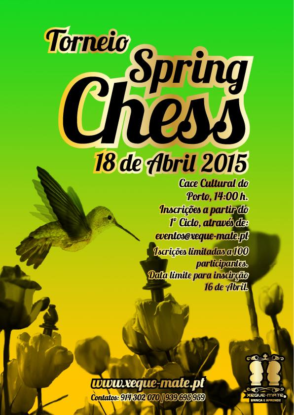 Cartaz do Torneio Spring Chess